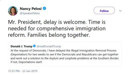 nancy pelosi response twitter
