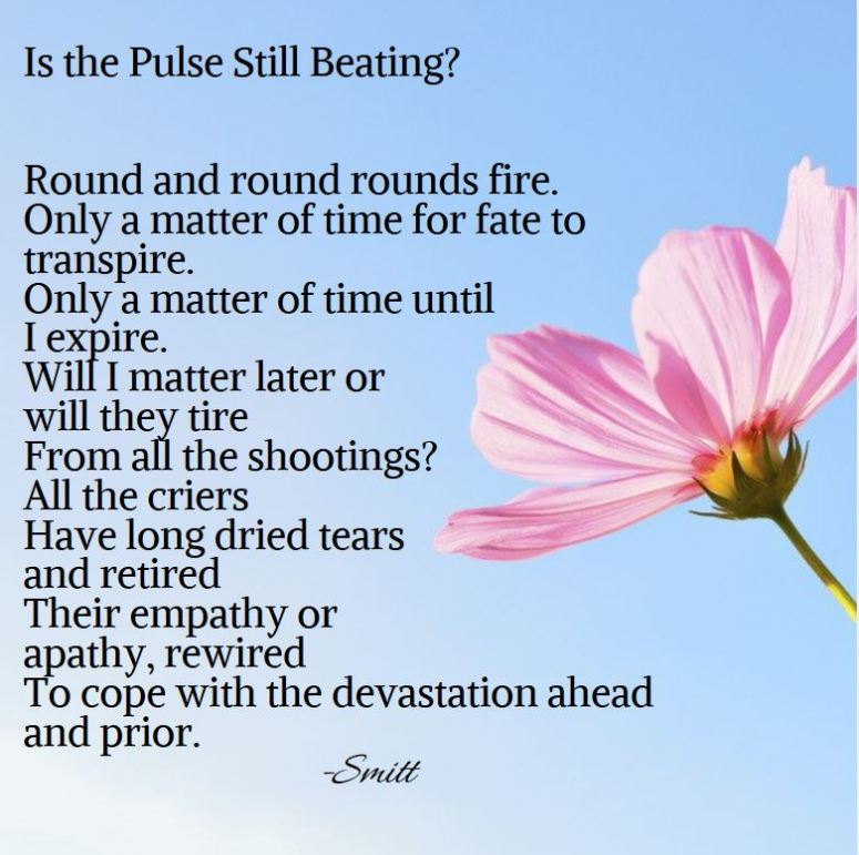 poem by poet entitled 'Is the Pulse Still Beating'.
