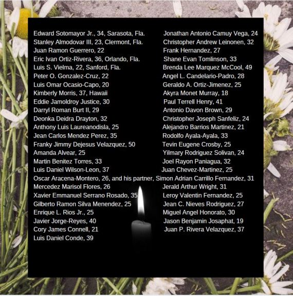 List of Victims in Pulse Night Club Shooting, 2016