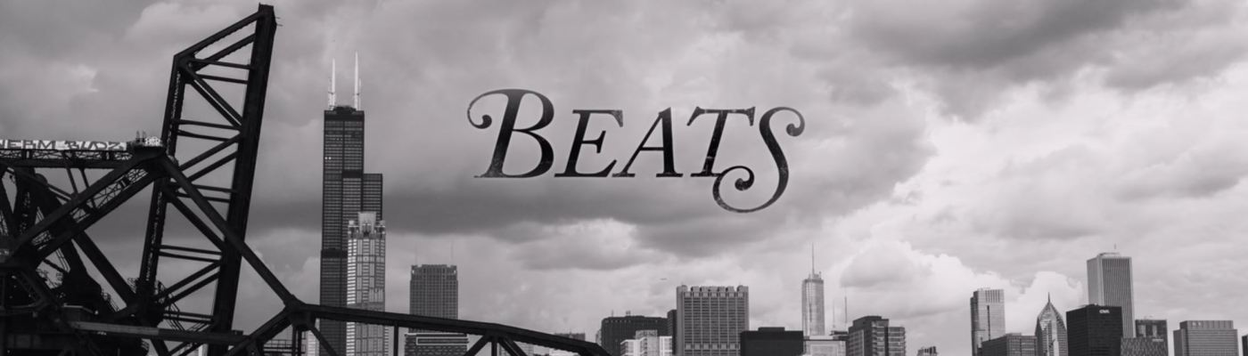 title card of Beats movie along Chicago skyline