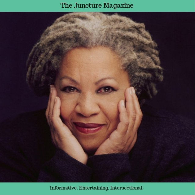 photo of toni morrison, with juncture magazine border
