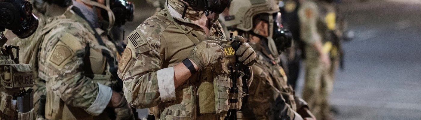 photo of unidentified armed militia members