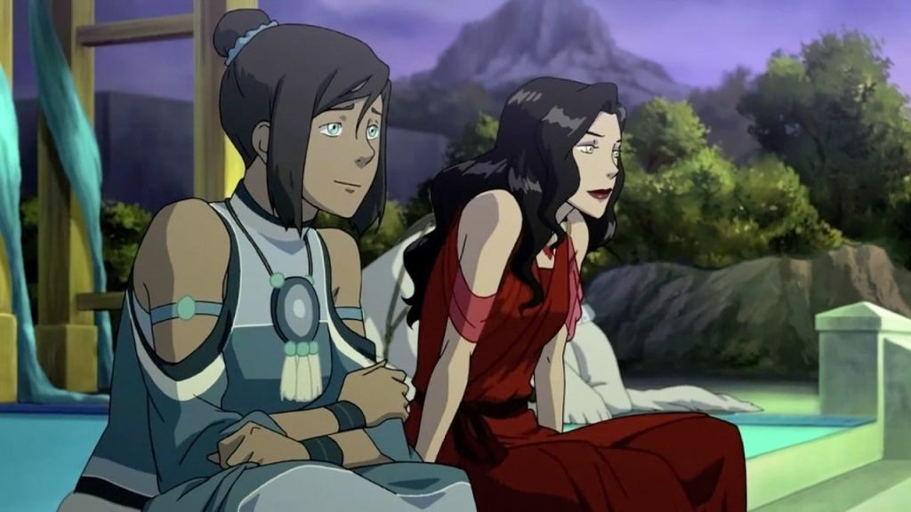 image of avatar Korra and Asami